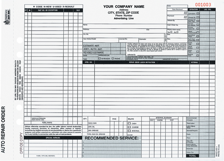 California Repair Order Forms - Arocc-365 And Aro-372