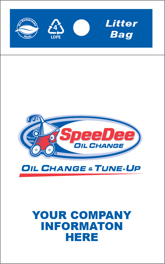 SpeeDee Oil Change & Tune Up Litter Bag